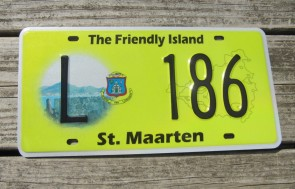 ST Maarten The Friendly Island License Plate 2012