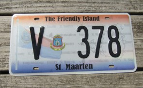 ST Maarten The Friendly Island License Plate 2011