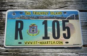 Saint ST Maarten The Friendly Island License Plate 2005
