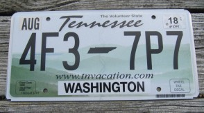 Tennessee Green Rolling Hills License Plate 2018