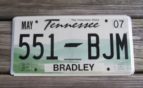 Tennessee Green Rolling Hills License Plate 2007