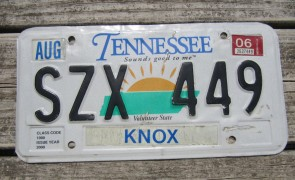 Tennessee Sounds Good To Me License Plate 2006