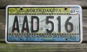 North Dakota Turtle Mountain Chippewa Indian Tripe License Plate 2016