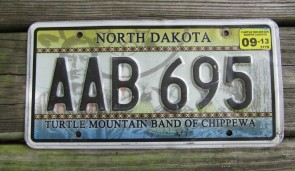 North Dakota Turtle Mountain Chippewa Indian Tripe License Plate 2013