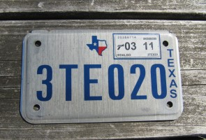 Texas Motorcycle License Plate 2011