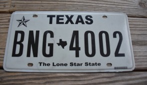 Texas White The Lone Star State License Plate