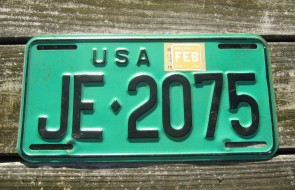 US Forces in Germany License Plate 1975