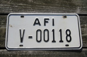 Allied Forces Italy License Plate US Forces 1960's