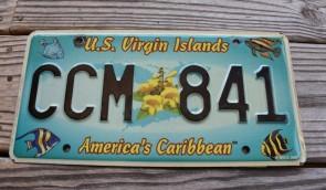 US Virgin Islands America's Caribbean License Plate Tropical Fish