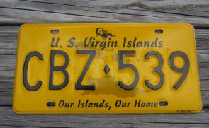 US Virgin Islands Yellow License Plate  Our Islands Our Home