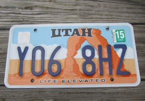 Utah Arch Life Elevated License Plate 2015