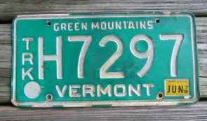 Vermont Green Mountains  License Plate 1979