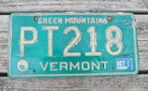 Vermont Green Mountain State License Plate 2018