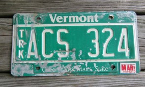 Vermont Green Mountain State License Plate 1995