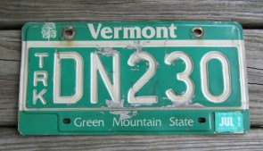 Vermont Green Mountain State License Plate 1998