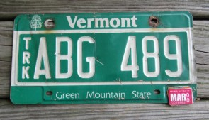 Vermont Green Mountain State License Plate 2000