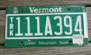 Vermont Green Mountain State License Plate 2012