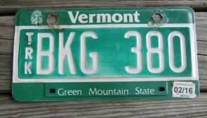 Vermont Green Mountain State License Plate 2016