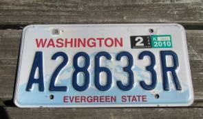 Washington Mt Rainier License Plate 2010