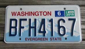 Washington Mt Rainier License Plate 2018
