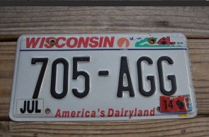 Wisconsin America's Dairyland License Plate 2014