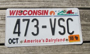 Wisconsin America's Dairyland License Plate 2018