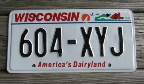 Wisconsin America's Dairyland License Plate