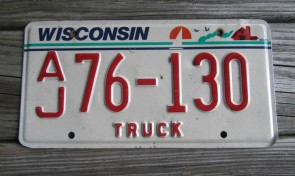Wisconsin America's Dairyland License Plate 2004