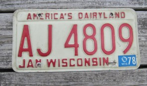Wisconsin America's Dairyland License Plate 2003