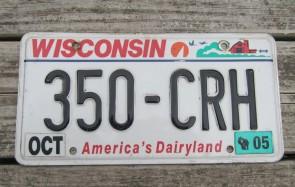 Wisconsin America's Dairyland License Plate 2005