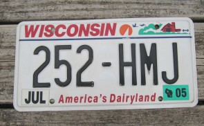 Wisconsin America's Dairyland License Plate 2005