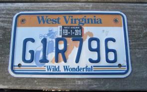 West Virginia Motorcycle License Plate Wild Wonderful Motorcycle Rider 2015