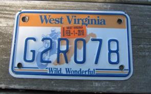 West Virginia Motorcycle License Plate Wild Wonderful Motorcycle Rider 2018