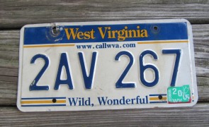 West Virginia Wild Wonderful License Plate 2005 Call WVA