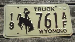 Wyoming Mountain Scene License Plate Bucking Horse 2018