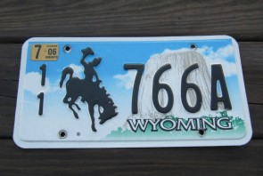 Wyoming Devils Tower License Plate 2006