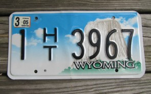 Wyoming Devils Tower House Trailer License Plate 2005