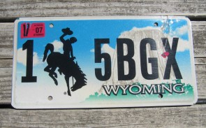 Wyoming Devils Tower Truck License Plate 2009 139 KL