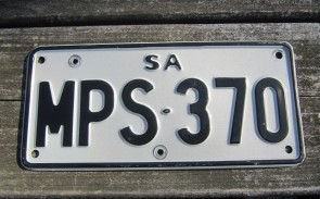 Australia Motorcycle License Plate South Australia