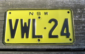 Australia Motorcycle License Plate New South Wales