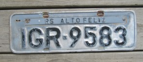 Brazil RS Altofeliz License Plate 2000's
