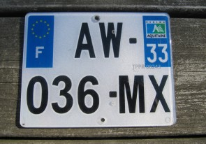 France Motorcycle License Plate 2000's