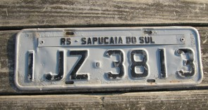 Brazil RS Sapucaia Do Sul Region License Plate 2000's