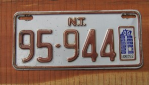 Australia Motorcycle License Plate Northern Territory
