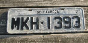 Brazil SC Palhoca License Plate 2000's