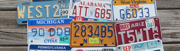 Old Car Tags for Sale, Old Automobile Tags for Sale, Motorcycle License Plates for Sale, License Plate Art for Sale, License Plate Crafts for Sale, DIY License Plate Craft Art Ideas, License Plate Project Ideas, License Plate Project Templates
